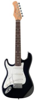 "Standard ""S"" electric guitar 3/4 model, lefthanded (ST-S300 3/4 LH BK)"