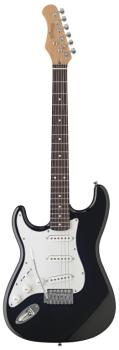 "Standard ""S"" electric guitar - Lefthanded model (ST-S300LH-BK)"