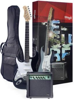 Surfstar electric guitar + amplifier package, lefthanded model (ST-ESURF 250LHBKUS)