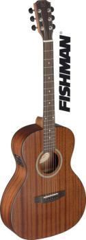 Acoustic-electric parlor guitar with solid mahogany top, Deveron serie (JA-DEV-PFI)