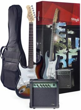 Surfstar electric guitar + amplifier package, lefthanded model (ST-ESURF 250LHSBUS)