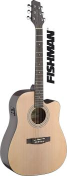 Dreadnought electro-acoustic cutaway concert guitar with FISHMAN pream (ST-SA40DCFI-N)