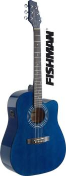 Dreadnought electro-acoustic cutaway concert guitar with FISHMAN pream (ST-SA40DCFI-TB)