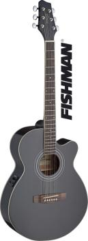 Mini-jumbo electro-acoustic cutaway concert guitar with FISHMAN preamp (ST-SA40MJCFI-BK)