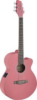 Mini-jumbo electro-acoustic cutaway concert guitar with FISHMAN preamp (ST-SA40MJCFI-PK)