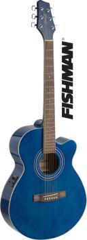 Mini-jumbo electro-acoustic cutaway concert guitar with FISHMAN preamp (ST-SA40MJCFI-TB)