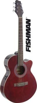 Mini-jumbo electro-acoustic cutaway concert guitar with FISHMAN preamp (ST-SA40MJCFI-TR)