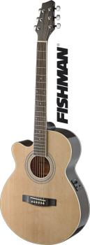 Mini-jumbo electro-acoustic cutaway concert guitar with FISHMAN preamp (ST-SA40MJCFI-LH N)