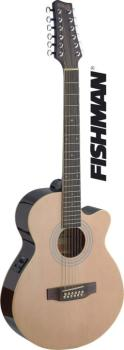 Mini-jumbo electro-acoustic cutaway concert guitar with FISHMAN preamp (ST-SA40MJCFI/12-N)