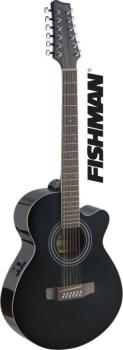 Mini-jumbo electro-acoustic cutaway concert guitar with FISHMAN preamp (ST-SA40MJCFI/12-BK)