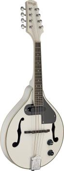 White acoustic-electric bluegrass mandolin with nato top (ST-M50 E WH)