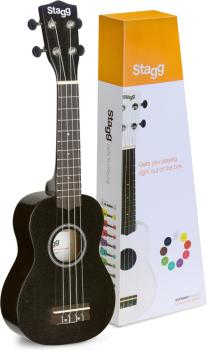 Soprano ukulele in black nylon gigbag (ST-US-NIGHT)