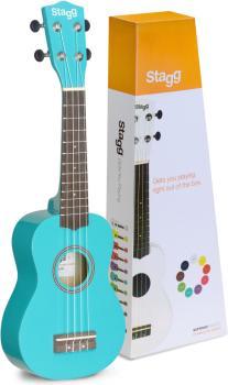 Soprano ukulele in black nylon gigbag (ST-US-OCEAN)