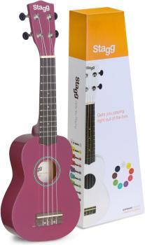 Soprano ukulele in black nylon gigbag (ST-US-VIOLET)