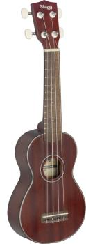 Traditional soprano Ukulele with solid mahogany top, in black nylon gi (ST-US40-S)