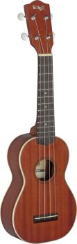 Traditional soprano Ukulele with solid mahogany top, in black nylon gi (ST-US70-S)