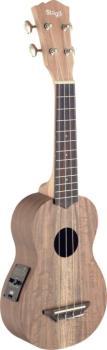 Traditional electro-acoustic soprano ukulele with solid acacia top (ST-USX-ACA-SE)