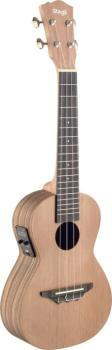 Traditional electro-acoustic concert ukulele with solid cedar top (ST-UCX-ZEB-SE)