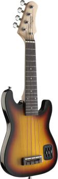 Sunburst S-style electric ukulele with solid body (ST-EUK S-SB)