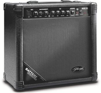 20 W RMS Battery-operated acoustic Guitar Amplifier with spring reverb (ST-MOB20 USA)
