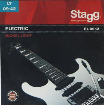 Nickel plated steel set of strings for electric guitar (ST-EL-0942)
