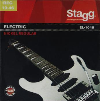 Nickel plated steel set of strings for electric guitar (ST-EL-1046)