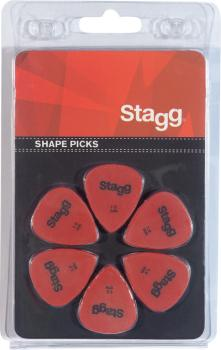 Pack of 6 Stagg 1 mm standard plastic picks (ST-SPSTD X6-1.00)